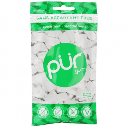 Pur Sugar-Free Gum Spearmint, 77g