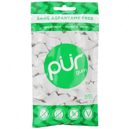 Pur Sugar-Free Gum Spearmint, 77g