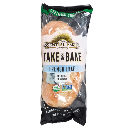Front of The Essential Baking Company Take & Bake French Loaf, 454g