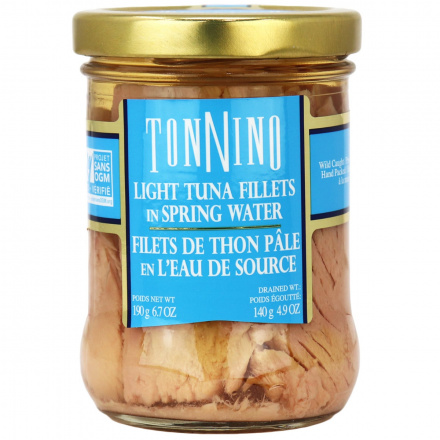 Tonnino Tuna Fillets In Spring Water, 190g