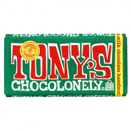 Tony's Chocolonely Milk Chocolate Hazelnut, 180g