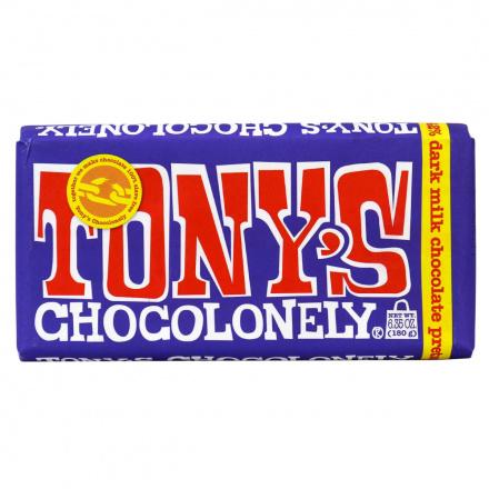 Tony's Chocolonely Dark Milk Chocolate Pretzel, 180g