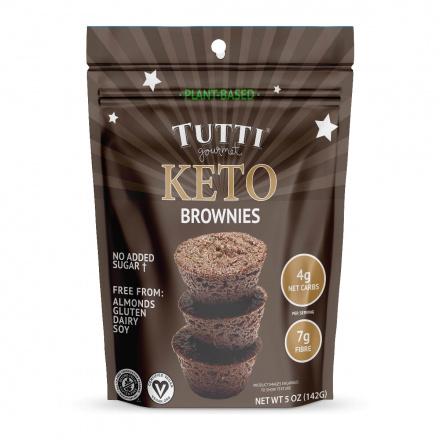 Front of Tutti Gourmet Vegan Keto Brownies, 142g
