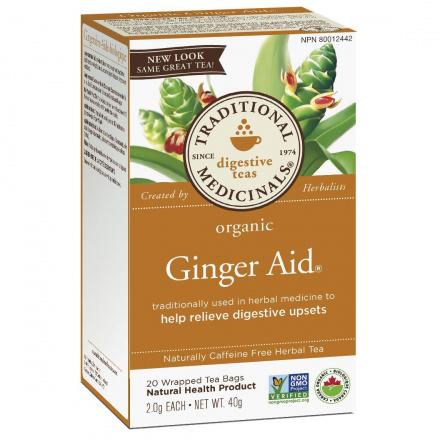 Traditional Medicinals Organic Ginger Aid Tea, 20 tea bags