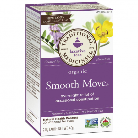 Traditional Medicinals Organic Smooth Move Tea, 20 tea bags