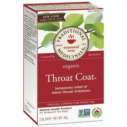 Traditional Medicinals Organic Throat Coat Tea, 20 tea bags