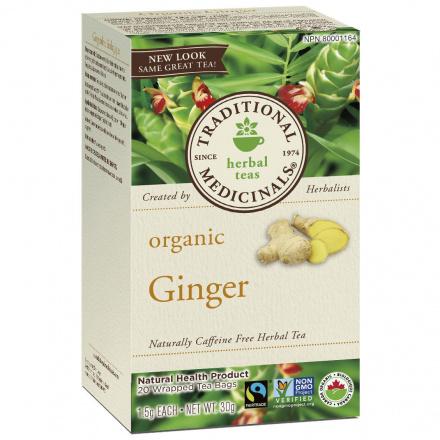 Traditional Medicinals Organic Ginger Tea, 20 tea bags
