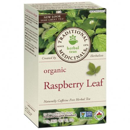 Traditional Medicinals Organic Raspberry Leaf Tea, 20 tea bags