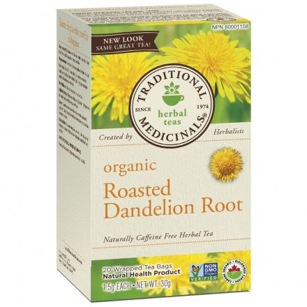 Traditional Medicinals Organic Roasted Dandelion Root Tea, 20 tea bags