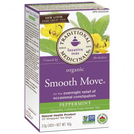 Traditional Medicinals Organic Smooth Move Peppermint Tea, 20 tea bags