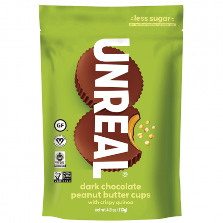 Unreal Dark Chocolate Crispy Peanut Butter Cups, 113g