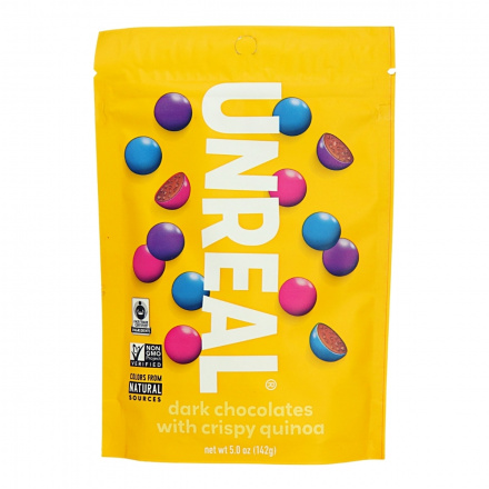 Unreal Dark Chocolate Crispy Quinoa Gems, 142g