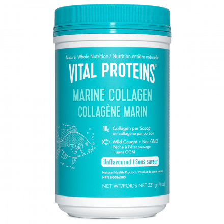 Front of Vital Proteins Marine Collagen, Wild-Caught Non-GMO, 221g