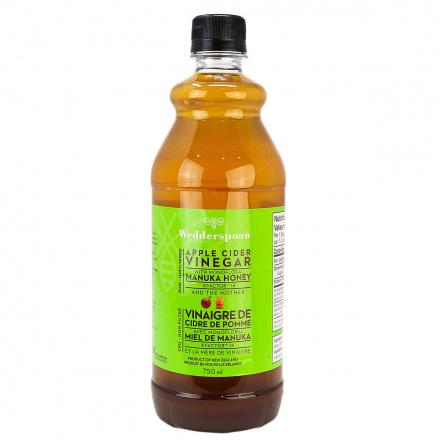 Wedderspoon Apple Cider Vinegar with Monofloral Manuka Honey KFactor 16, 750ml