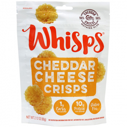 Whisps Cheddar Cheese Crisps, 60g