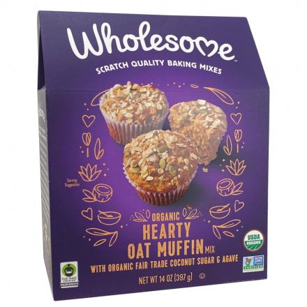Front of Wholesome Organic Hearty Oat Muffin Mix, 397g
