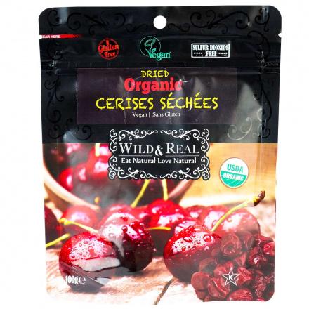 Nature's Wild Organic Dried Cherries, 100g