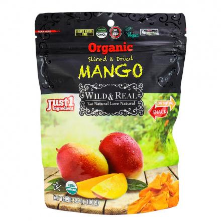 Nature's Wild Organic Sliced & Dried Mango, 100g