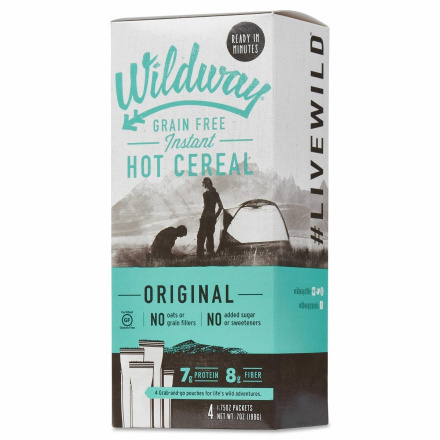 Wildway Grain-Free Instant Hot Cereal Original, 4 Packets
