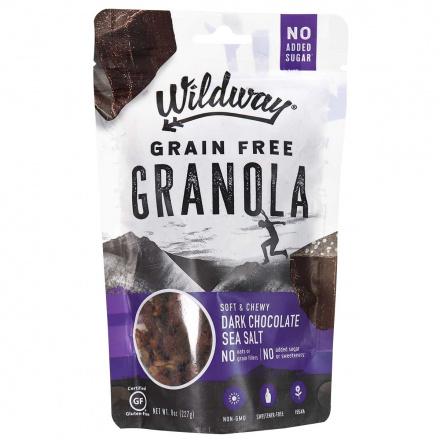 Front of Wildway Grain Free Granola Dark Chocolate Sea Salt, 227g