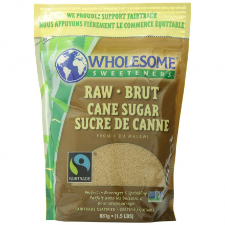 Wholesome Sweeteners Raw Cane Sugar, 680g