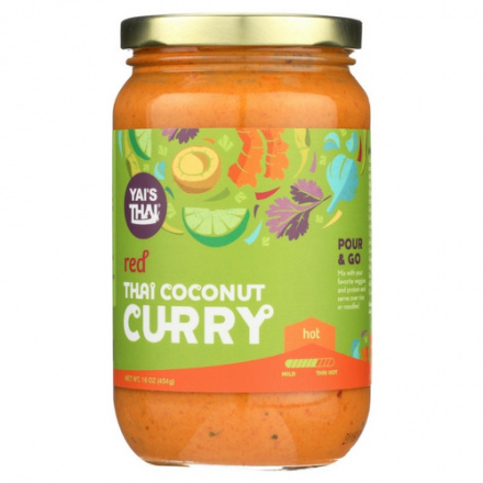 Yai's Thai Coconut Curry Red Spicy, 454g
