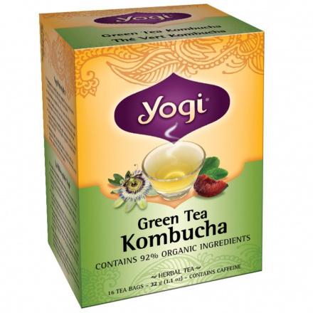 Yogi Kombucha Green Tea, 16 Bags