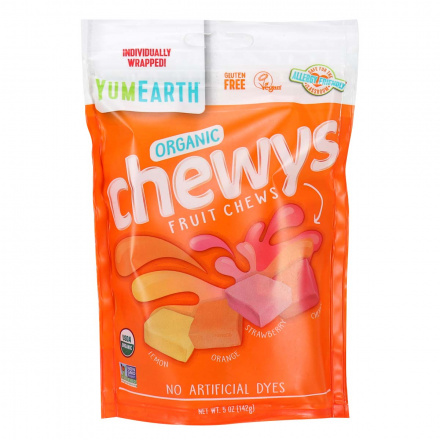 Front of YumEarth Organic Chewys Fruit Chews, 142g