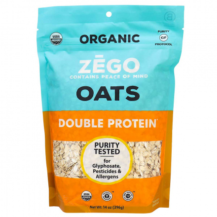 Front of Zego Organic Gluten-Free Muesli Double Protein, 396g