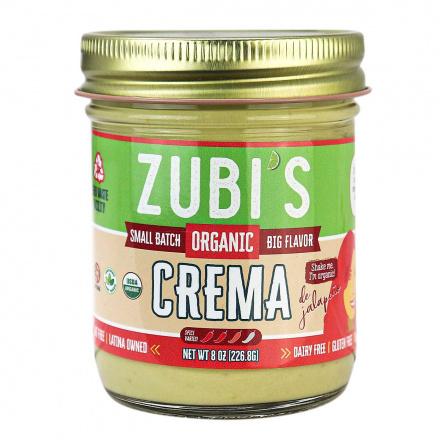 Front of Zubi's Organic Crema, 226.8g