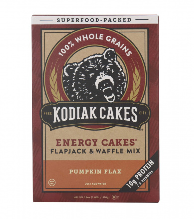 Front of Kodiak Cakes Energy Cakes Pumpkin Flax Pancake & Waffle Mix, 510g