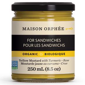 Maison Orphee Organic Yellow Mustard with Turmeric, 250ml