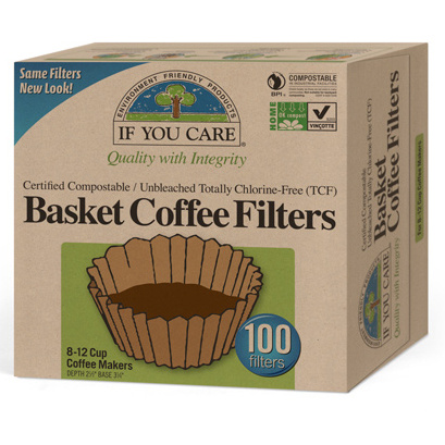 If You Care Unbleached Coffee Filters For 8 Inch Basket, 100 ct