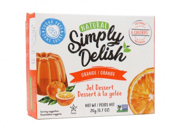 Simply Delish Sugar Free Orange Jel Dessert, 20g