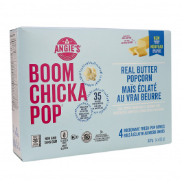 Angie's Boom Chicka Pop Microwave Popcorn Real Butter, 4 bags