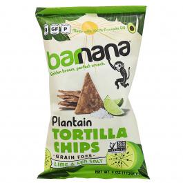 Barnana Grain-Free Plantain Tortilla Chips Lime & Sea Salt, 113g