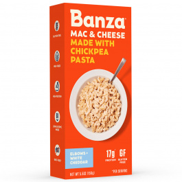Banza Chickpea Pasta Elbows White Cheddar Mac & Cheese, 156g