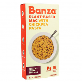 Banza Plant-Based Chickpea Pasta Mac & Vegan Cheese, 156g