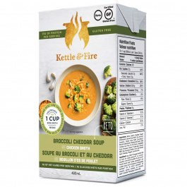 Kettle & Fire Broccoli Cheddar Keto Soup with Chicken Bone Broth, 479g