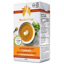 Kettle & Fire Butter Curry Keto Soup with Chicken Bone Broth, 479g