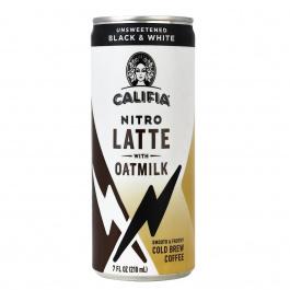 Califia Farms Nitro Latte with Oatmilk Unsweetened Black & White, 210ml