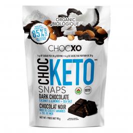 ChocXO Choc Keto  Snaps Dark Chocolate Coconut, Almonds & Sea Salt, 98g