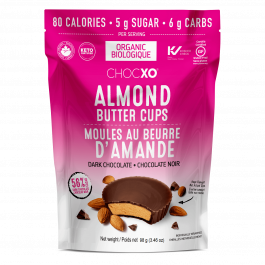 ChocXO Almond Butter Cups Dark Chocolate, 98g