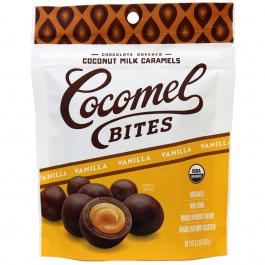 Cocomels Vanilla Chocolate Covered Coconut Milk Caramel Bites, 100g