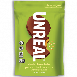 Unreal Dark Chocolate Crispy Peanut Butter Cups, 113g