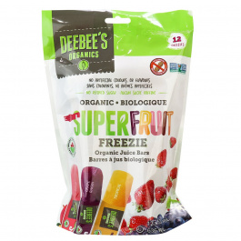 Deebee's Organic Super Fruit Freezie Juice Bars, 12 Pops