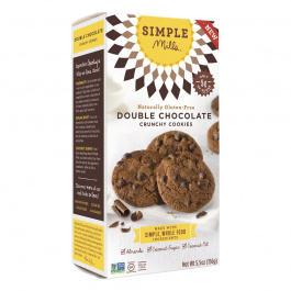 Simple Mills Double Chocolate Crunchy Cookies, 156g