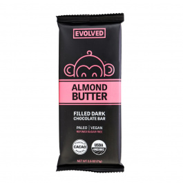 Evolved Almond Butter Filled Bar 72% Cacao, 71g