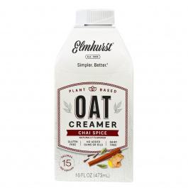 Elmhurst Plant-Based Oat Creamer Chai Spice, 473ml