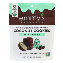 Emmy's Organic Chocolate Covered Coconut Cookie Bites Mint, 100g
